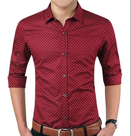 Aiyino Mens Casual Slim Fit Long Sleeve Button Down Dress Shirts