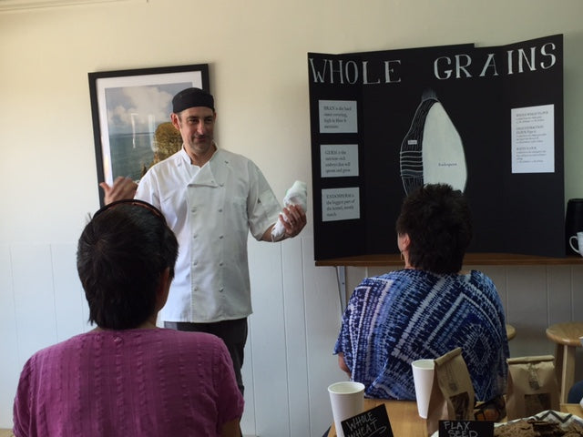 Troy DeRego discusses whole grains (photo by Becky Hagenston)