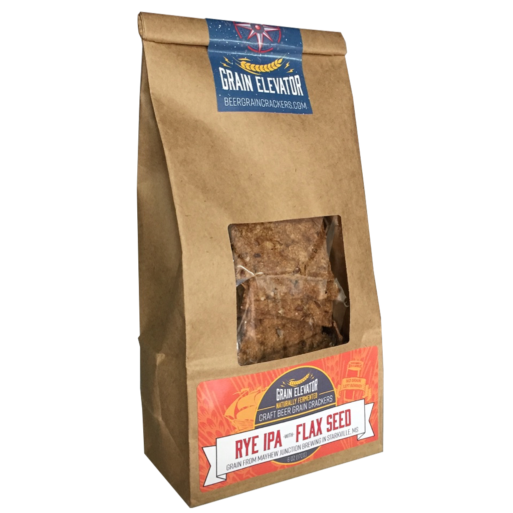 Rye IPA with Flax Seeds - naturally fermented beer grain crackers