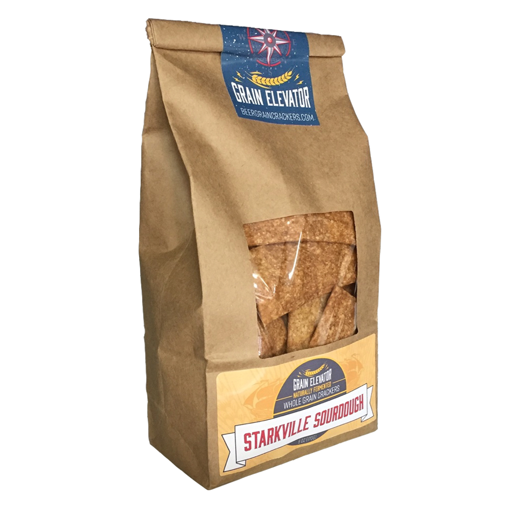 Starkville Sourdough - naturally fermented whole grain crackers