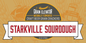 Starkville Sourdough - naturally fermented whole grain crackers front label