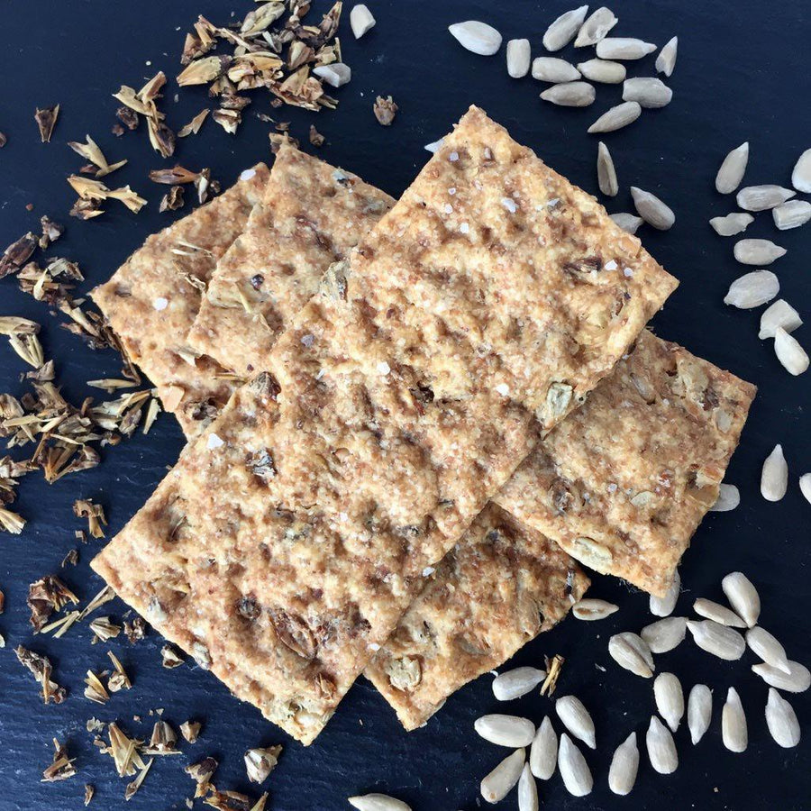English Mild Ale Crackers with Sunflower Seeds