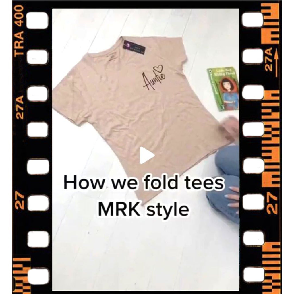 How to Fold you Tee's MRK STYLE