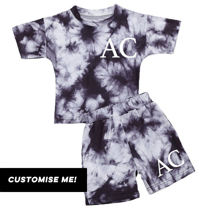 Personalised Arizona Tie-Dye T-Shirt & Short Set (6m-4 Years) (MRK X)
