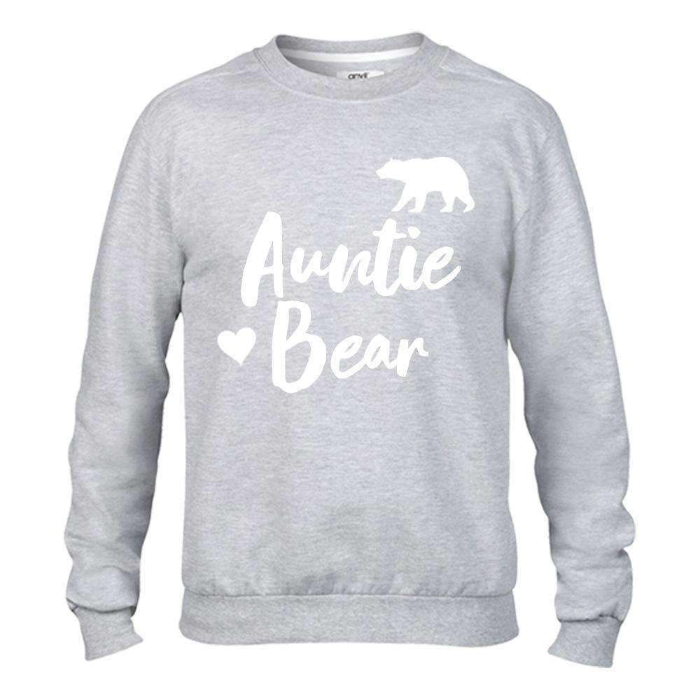 Auntie Bear & Little Bear Matching Light Grey Sweaters (MRK X)