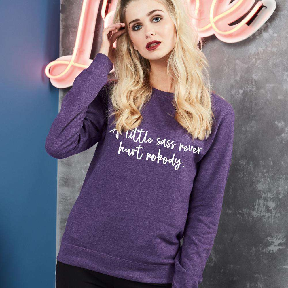 A Little Sass Girlie Heather Sweatshirt (MRK X)