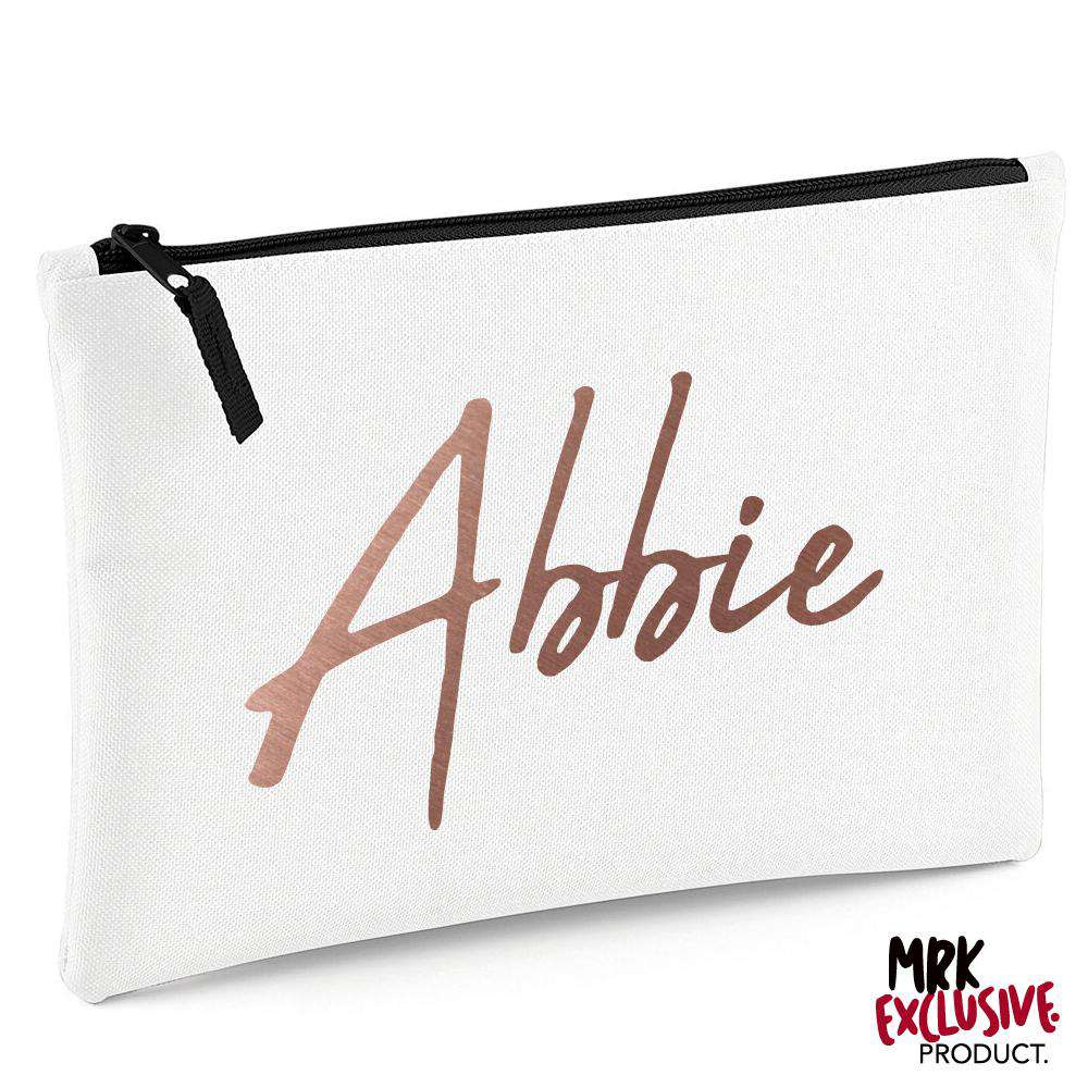 Personalised Script Name Grab/Makeup Bag (MRK X)