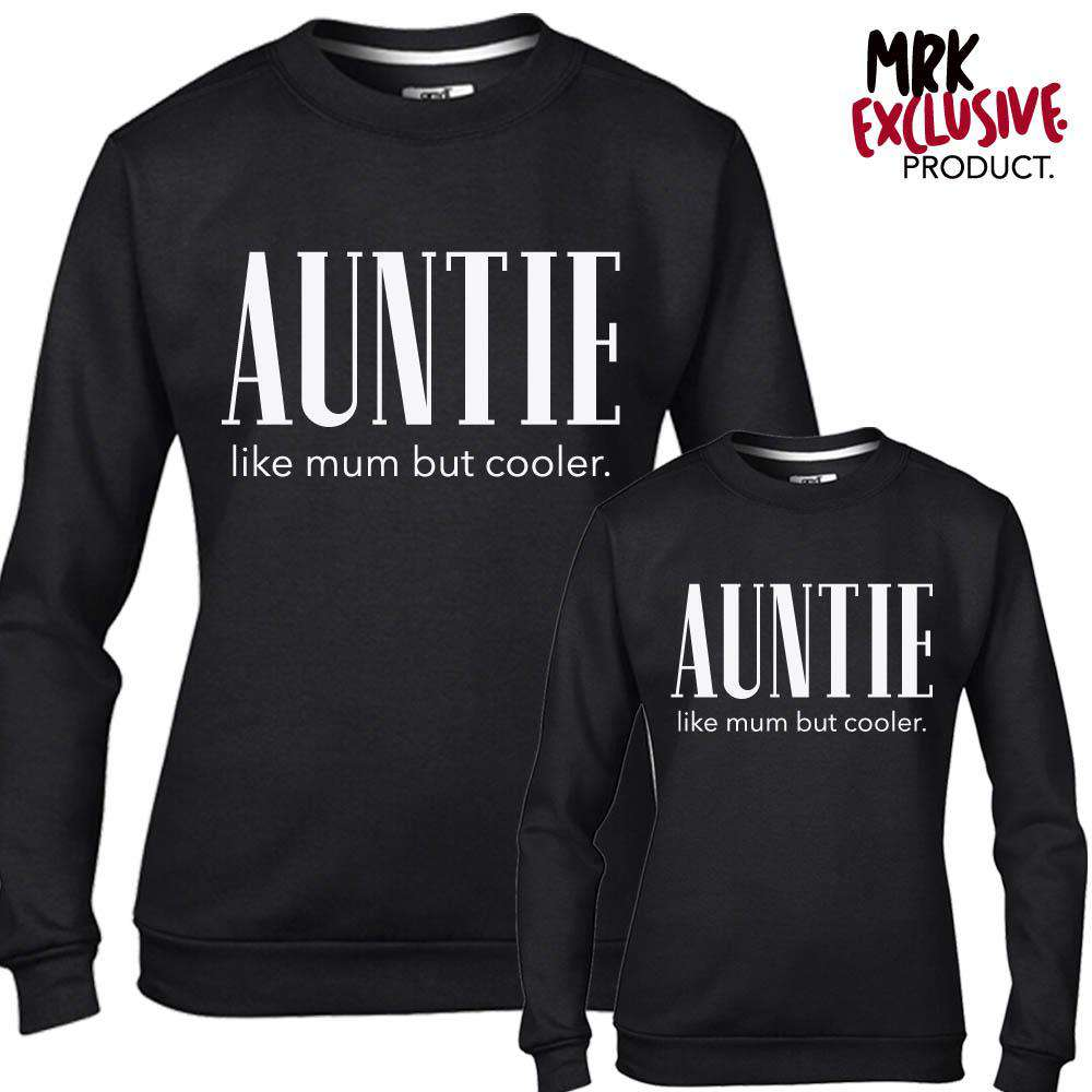 Auntie (Cooler than Mum) Black Sweaters (MRK X)