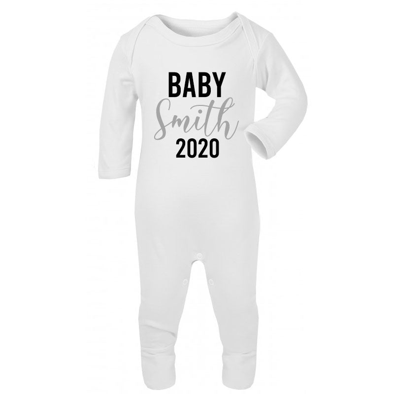 Personalised Baby Year Rompersuit (MRK X)