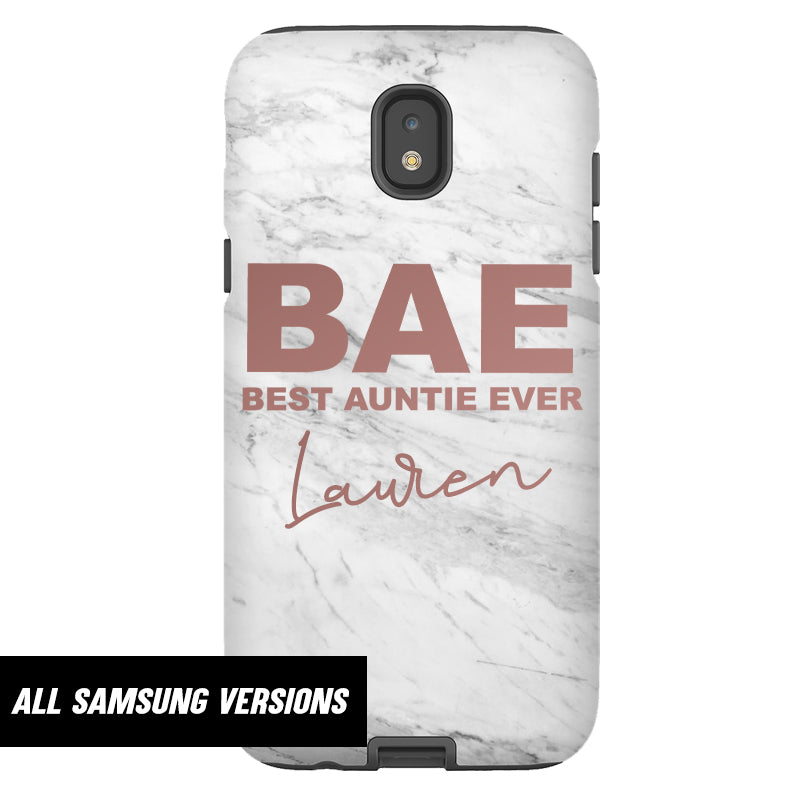 Personalised BAE Best Auntie Ever Samsung Snap Phone Case (MRK X)