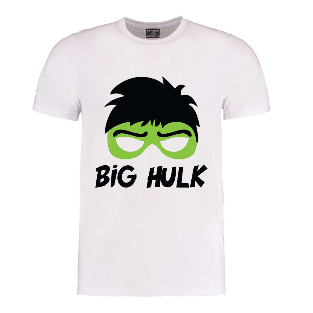 Big HulK/Little Hulk Dad Matching White Tee's (MRK X)