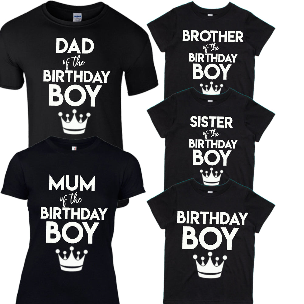Family Birthday Boy Matching Tees (MRK X)