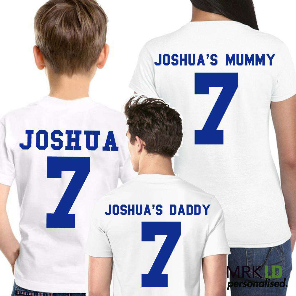 Personalised Family Footy Birthday Tees (MRK X)