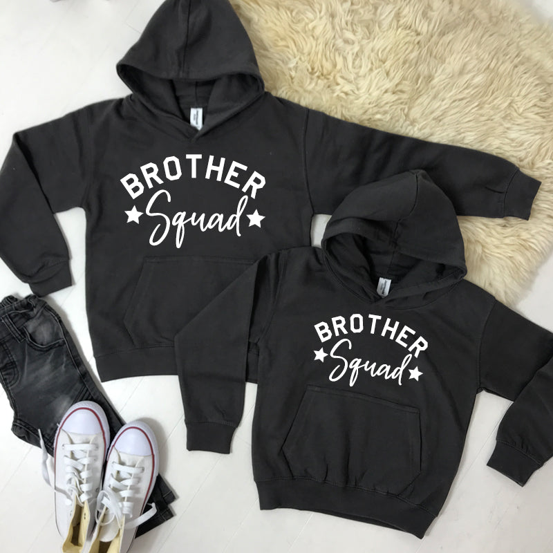 Brother Squad Star Hoodies Storm Grey (1-13 Years) (MRK X)
