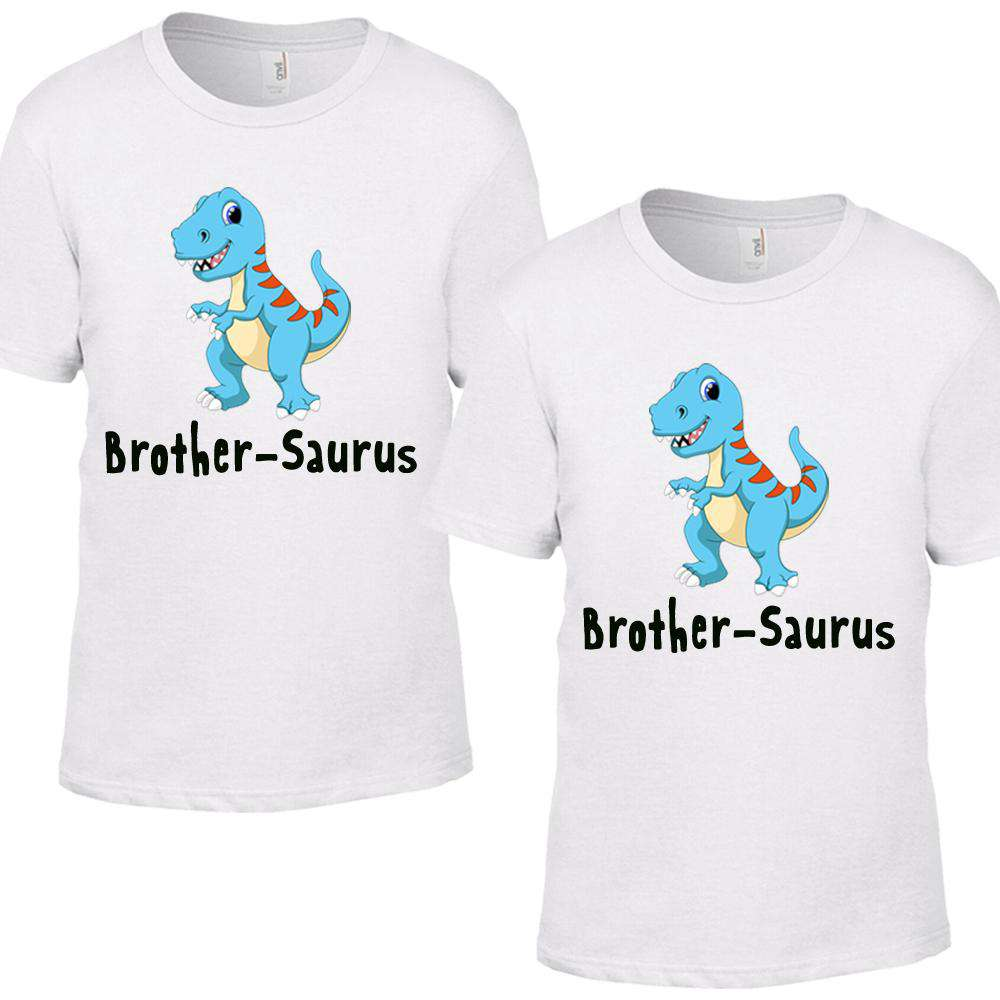 Brother-Saurus Brother Matching White Tees (MRK X)