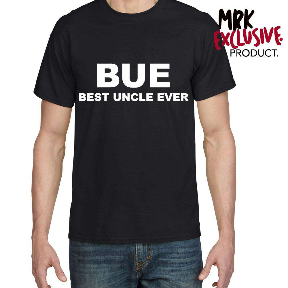 BUE -Best Uncle Ever Black Crew Tee (MRK X)