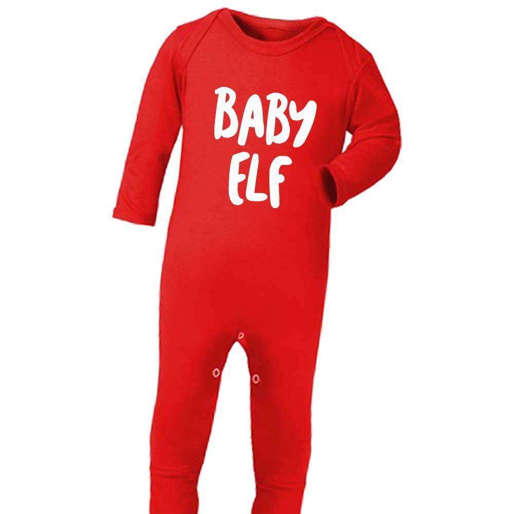 Elf Family Matching Adult & Kid Red Matching Tops & Baby (MRK X)