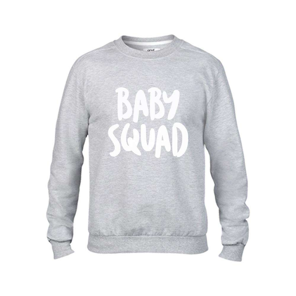 Family SQUAD Matching Light Grey Sweaters (MRK X)