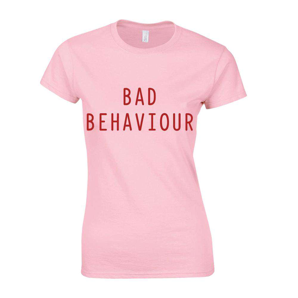 Bad Behaviour Adult & Kid Pink Matching Tees (MRK X)