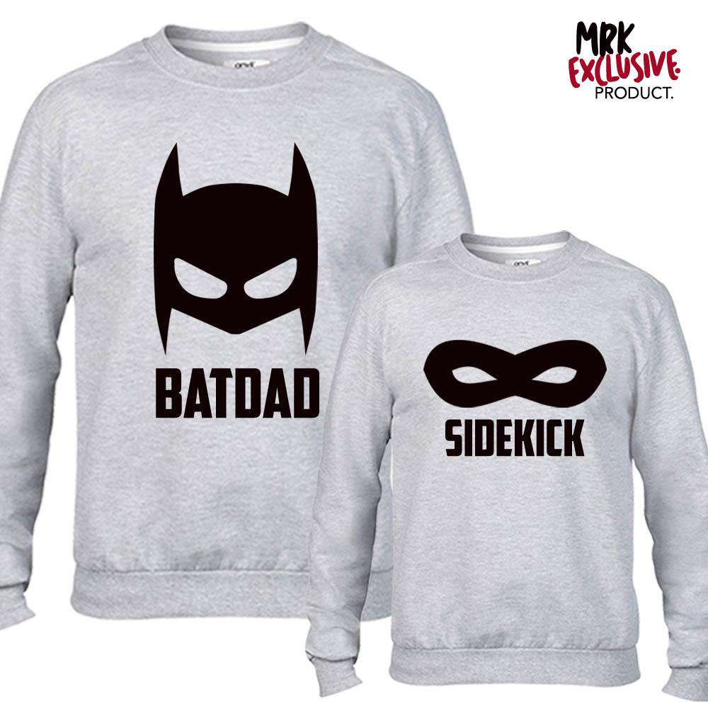 Batdad/Sidekid Grey Matching Sweaters (MRK X)