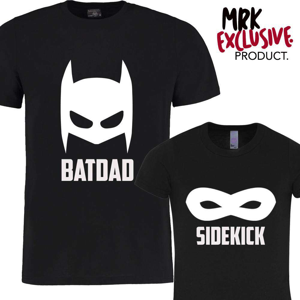 Batdad & Sidekick Black Matching Tees (MRK X)