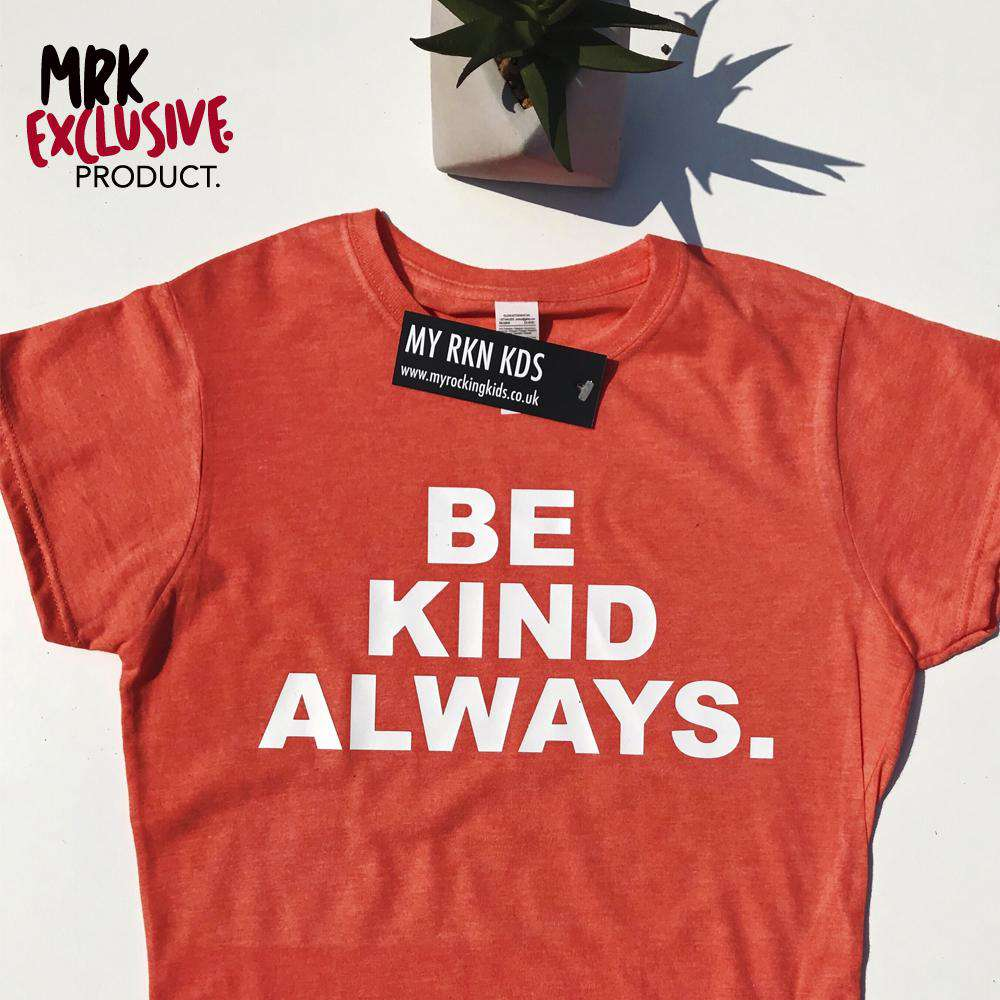 BE KIND ALWAYS Womens Coral Crew Tee (MRK X)