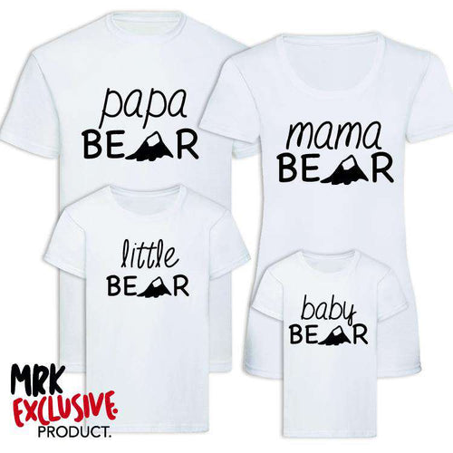 Bear Family Matching T-Shirts - White (MRK X)
