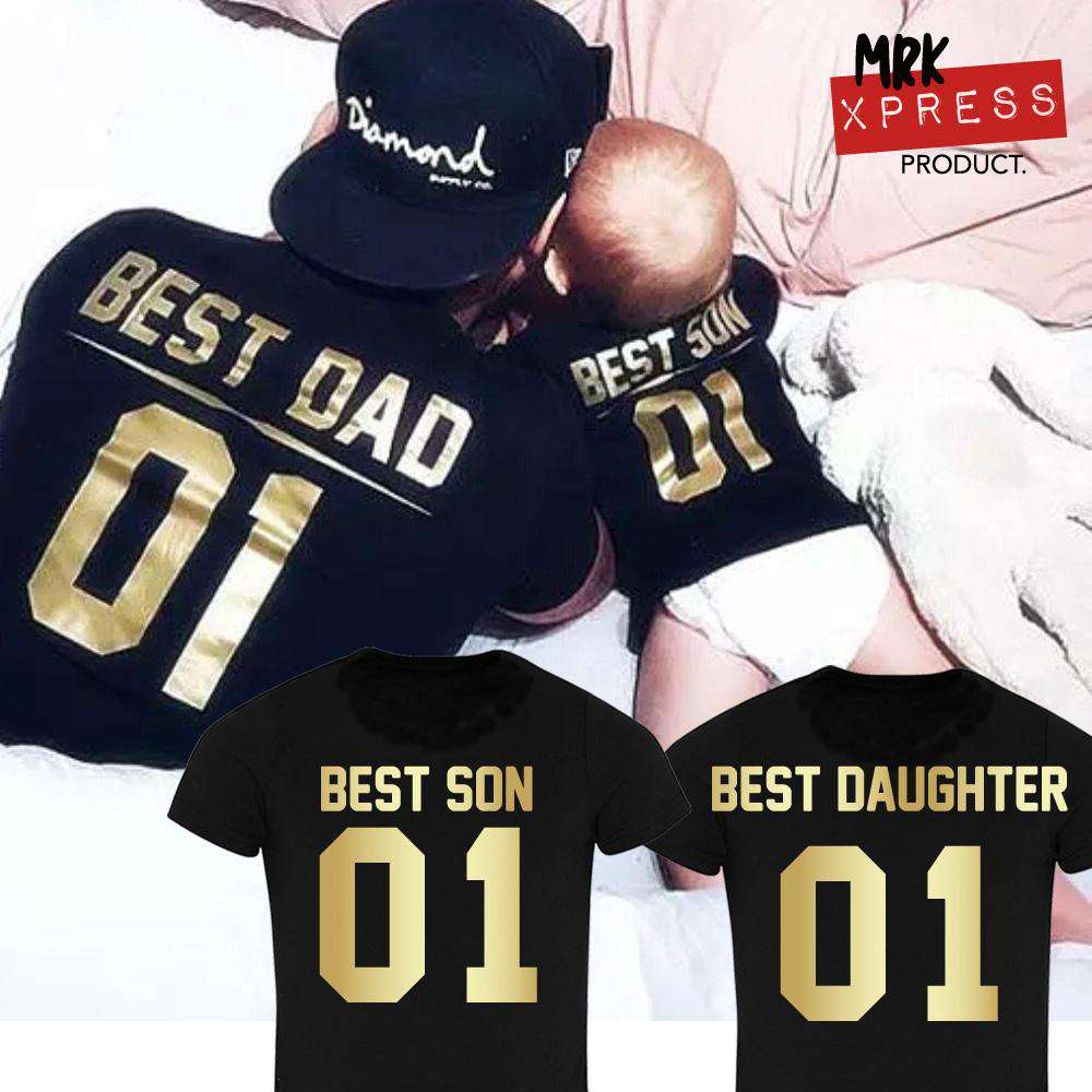 Best Dad/Best Kids Black/Gold Matching Tees (MRK X)