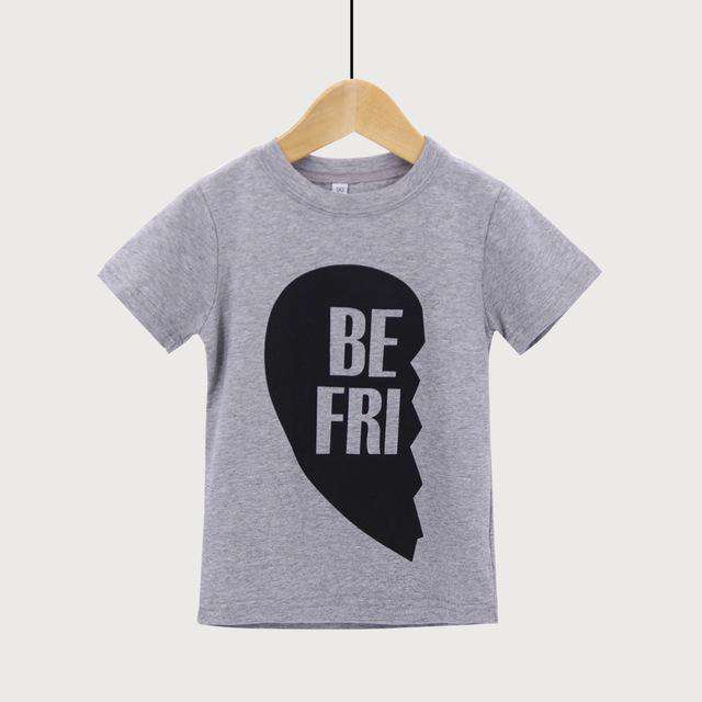 Matching Adult & Kid Grey Best Friend Tees (MRK X)