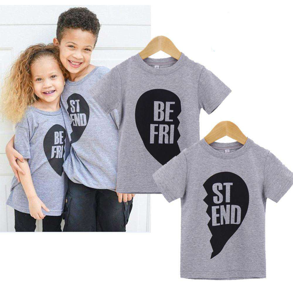 Matching Best Friend Grey Tees (1-13 Years) (MRK X)