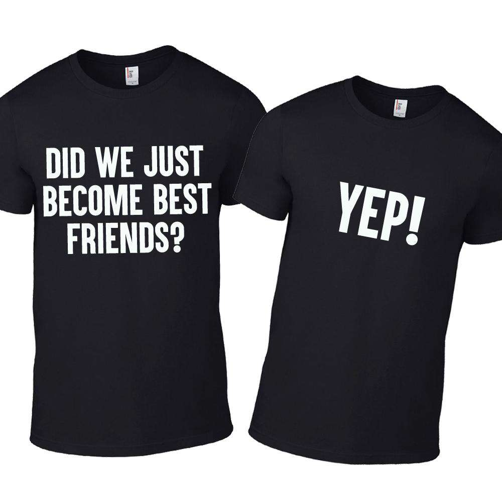 Best Friends, Yep! Kids Matching Black Tees (MRK X)