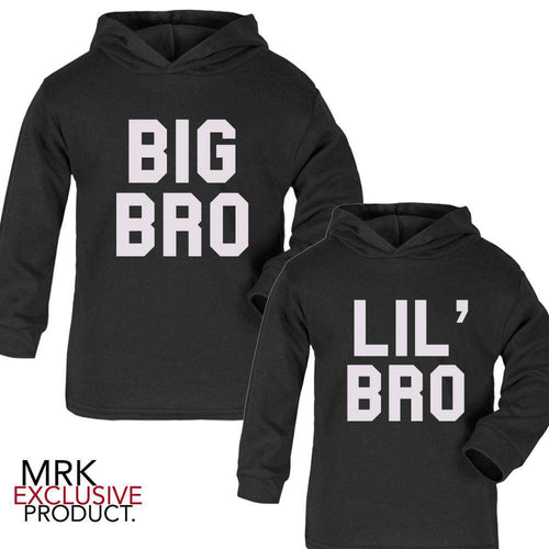 Big Bro/Lil' Bro Matching Black Hoodies (3M-13 Years) (MRK X)