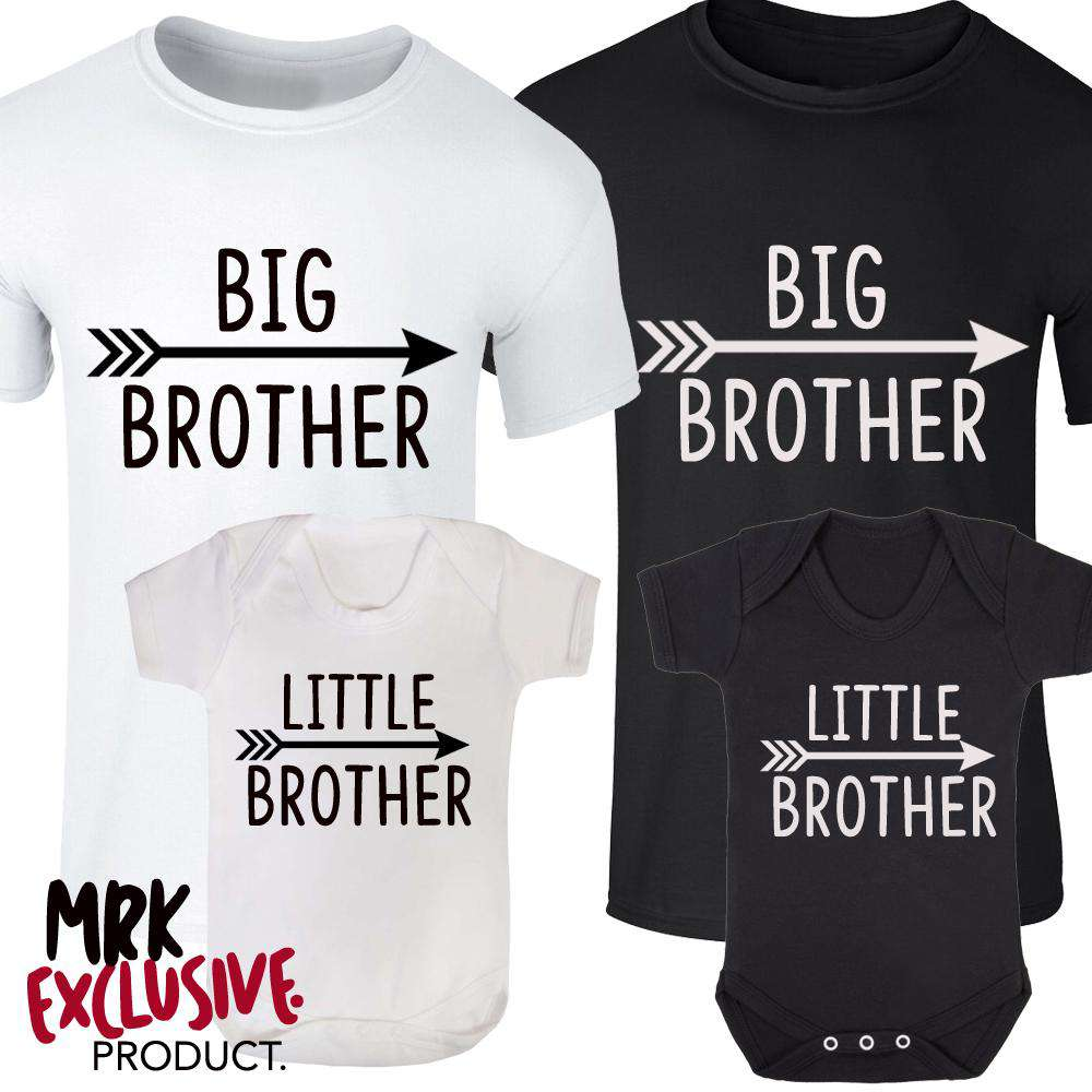 Big Bro/Little Bro Arrow Tee & Rompers (MRK X)