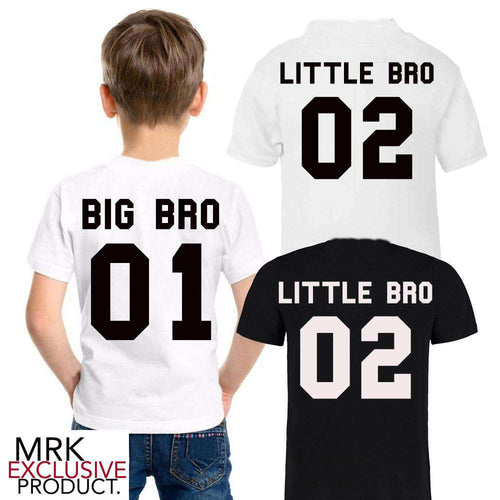 Big Bro/Little Bro Collegiate 01/02 Matching Tees (0-14 Years) (MRK X)