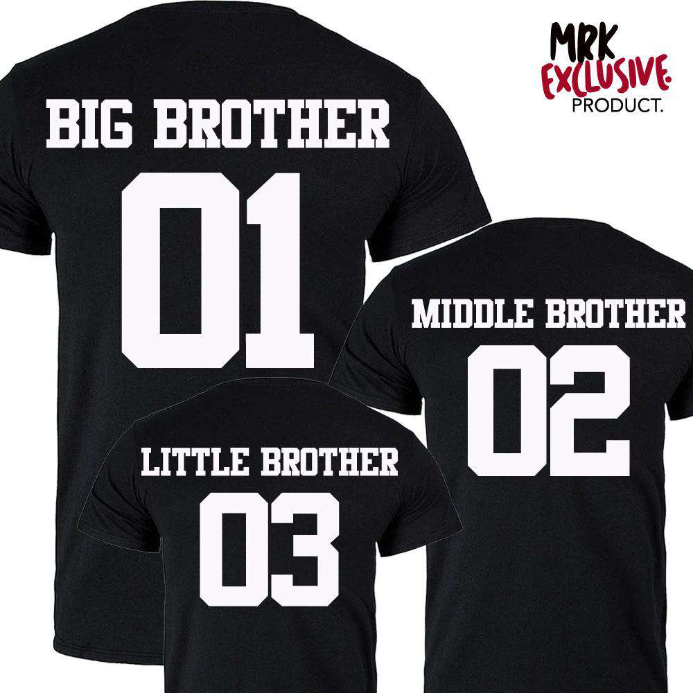 Big Brother/Middle Brother/Little Brother Black Matching Tees (MRK X)