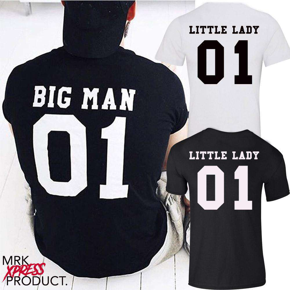 Big Man/Little Lady Daddy & Daughter Matching Tees (MRK X)