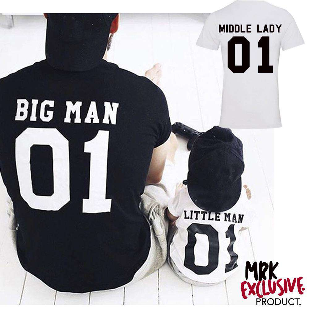 Big Man, Middle Lady, Little Man Matching Tees (MRK X)