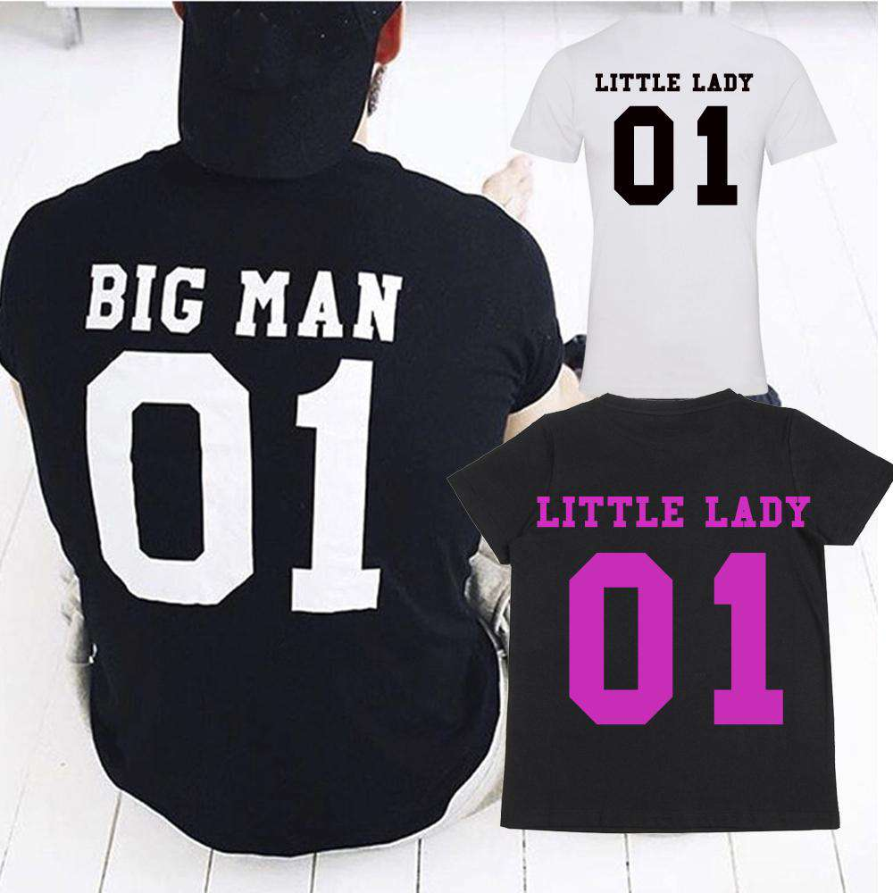 Big Man/Little Lady Dad & Daughter Matching Tees (MRK X)