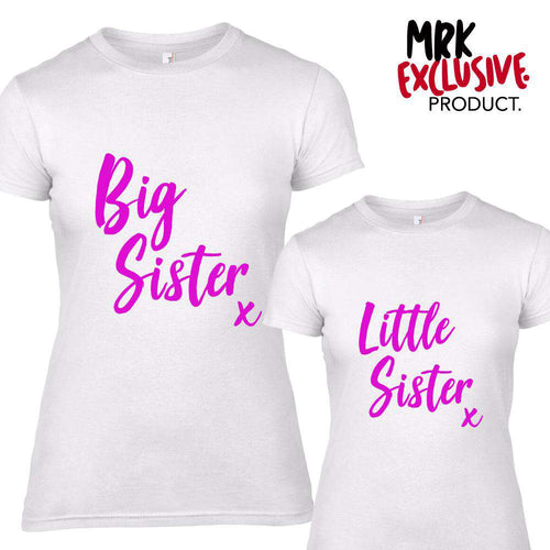Big Sister/Little Sister KISS Matching White Tees (MRK X)