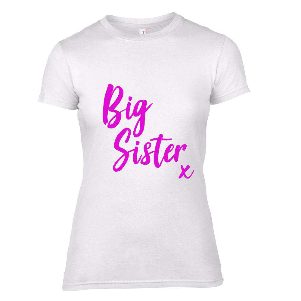 Big Sister/Middle Sister/Little Sister KISS Matching White Tees (MRK X)