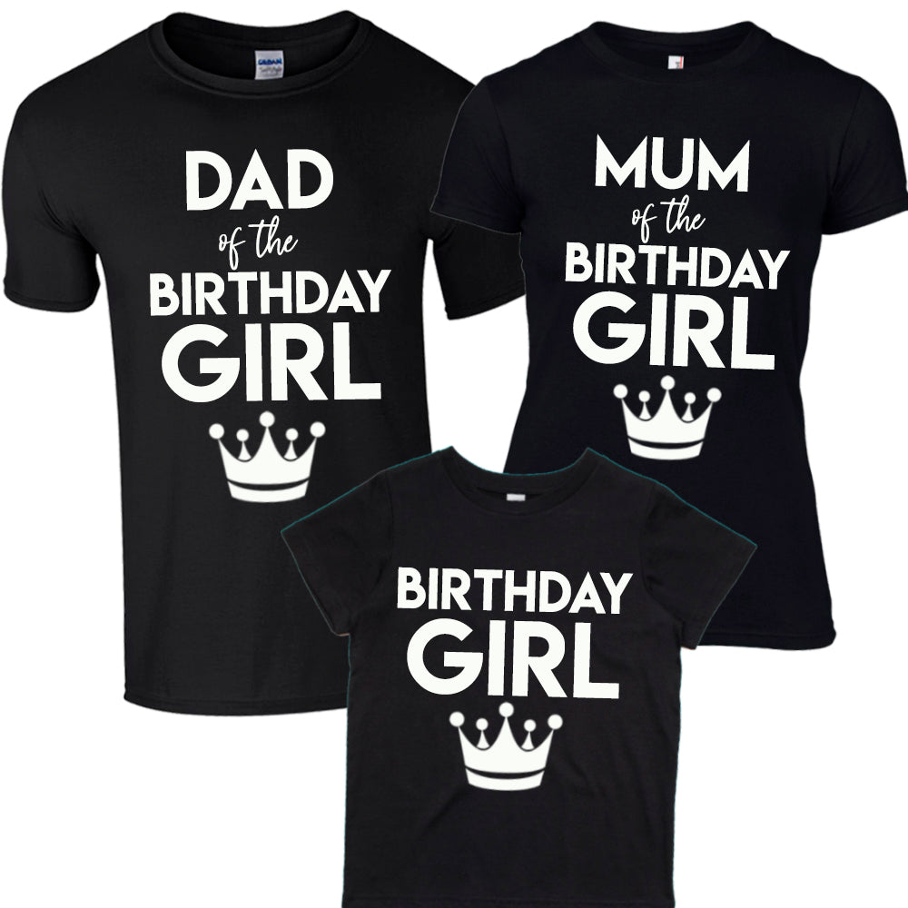 Family Birthday Girl Matching Tees (MRK X)