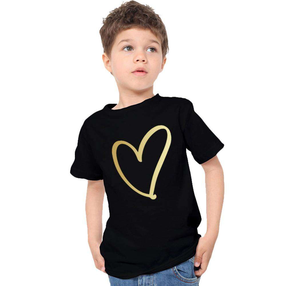 Heart Print Mum & Kid Matching Tees (MRK X)