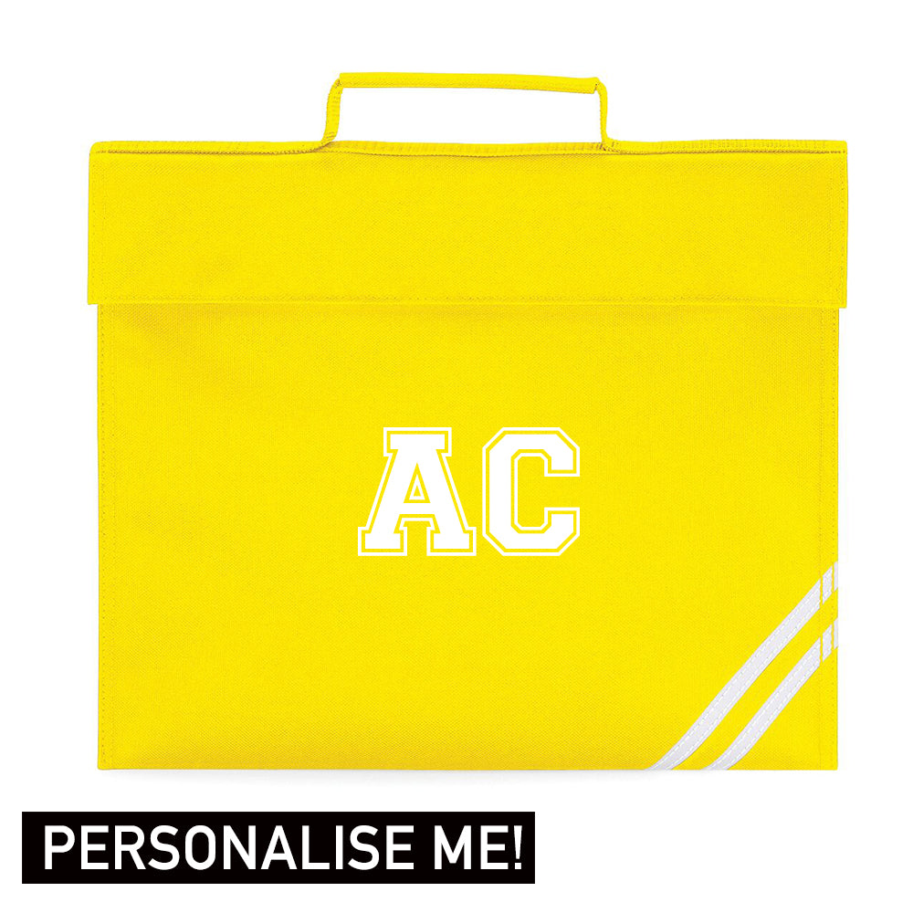 Personalised Initial Varsity School Book Bag (MRK X)