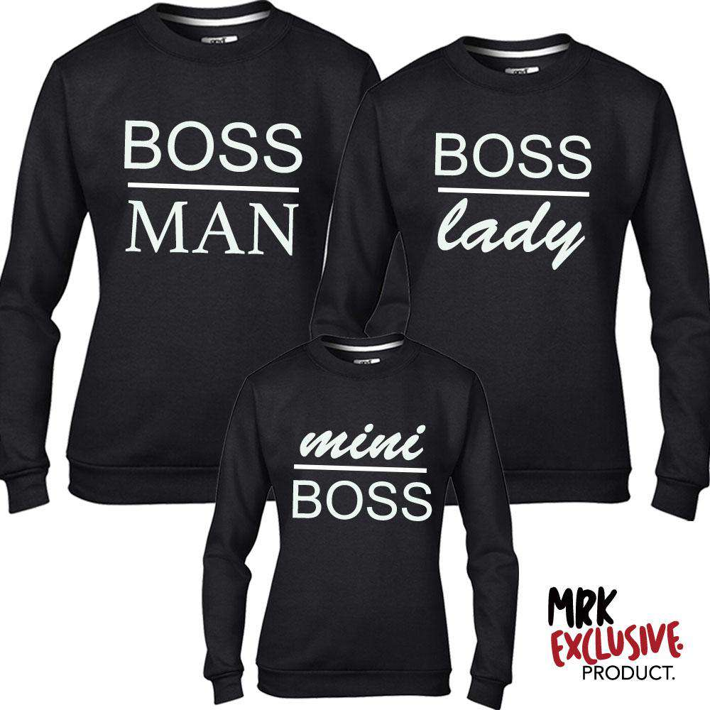 Boss Family Matching Black Sweatshirts (MRK X)