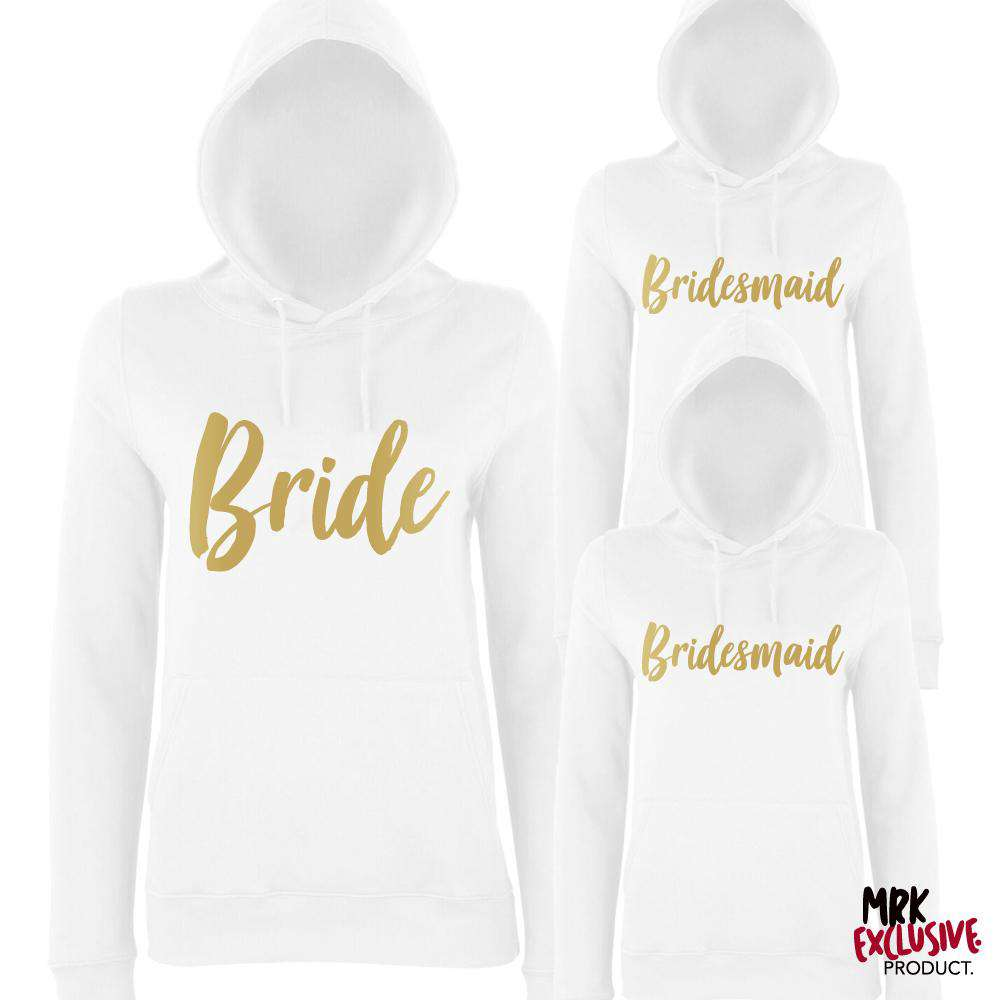 Bride & Bridesmaid Matching White Hoodies (MRK X)