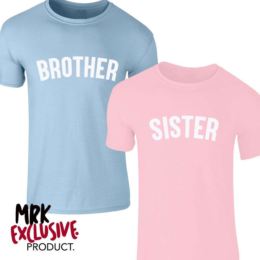 Brother/Sister Pastel Matching Tees (0-13 Years) (MRK X)
