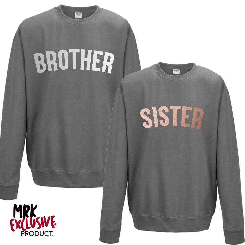 Brother/Sister Matching Steel Grey Sweaters (1-13 Years) (MRK X)