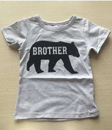 Matching Brother & Sister Bear Grey Tees (MRK X)