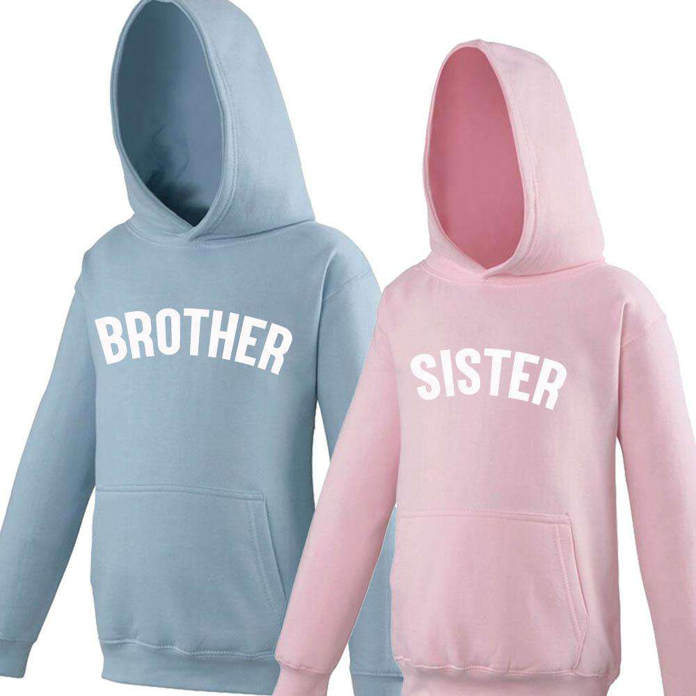 Brother/Sister Pastel Matching Hoodies (1-13 Years) (MRK X)