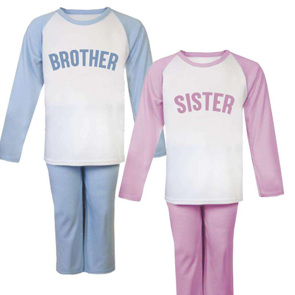 Brother/Sister Raglan Matching Pyjamas (6m-6 Years) (MRK X)